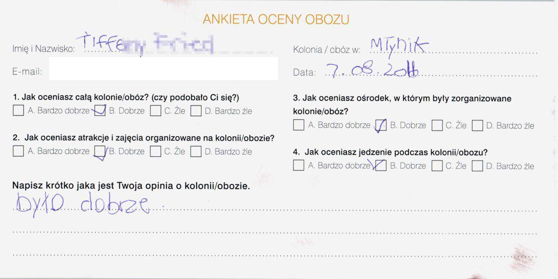 Ania 14 lat kolonie w chorwacji 2008 6