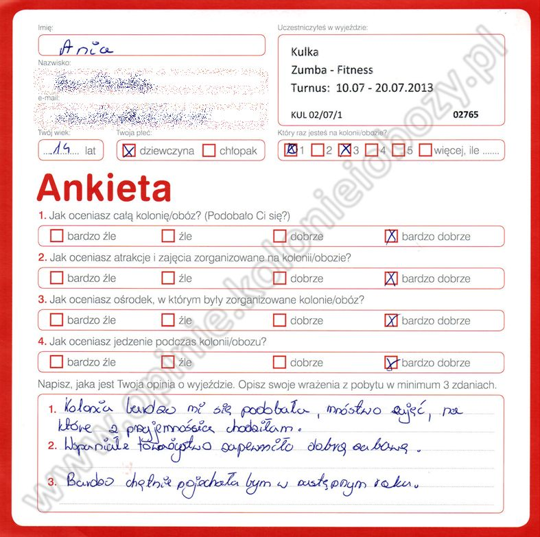 Ania 14 lat kolonie w chorwacji 2008 9