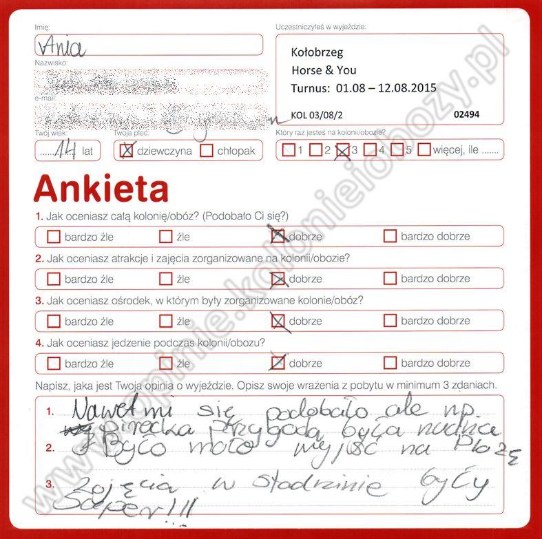 Ania 14 lat kolonie w chorwacji 2008 8