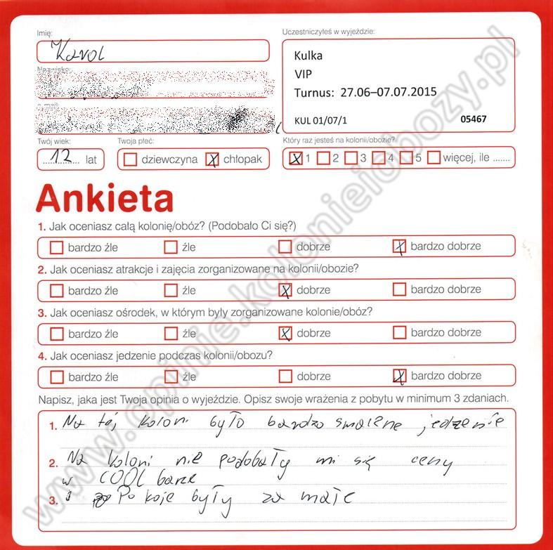 Ania 14 lat kolonie w chorwacji 2008 5