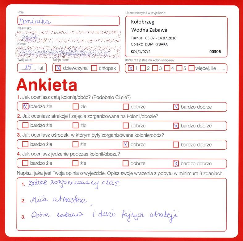 Ania 14 lat kolonie w chorwacji 2008 3