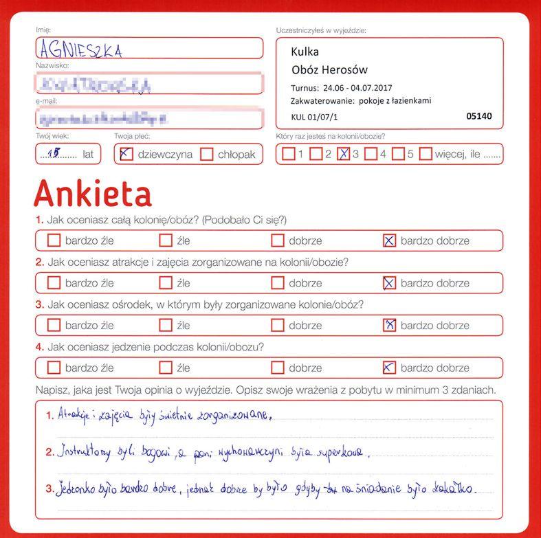 Ania 14 lat kolonie w chorwacji 2008 4